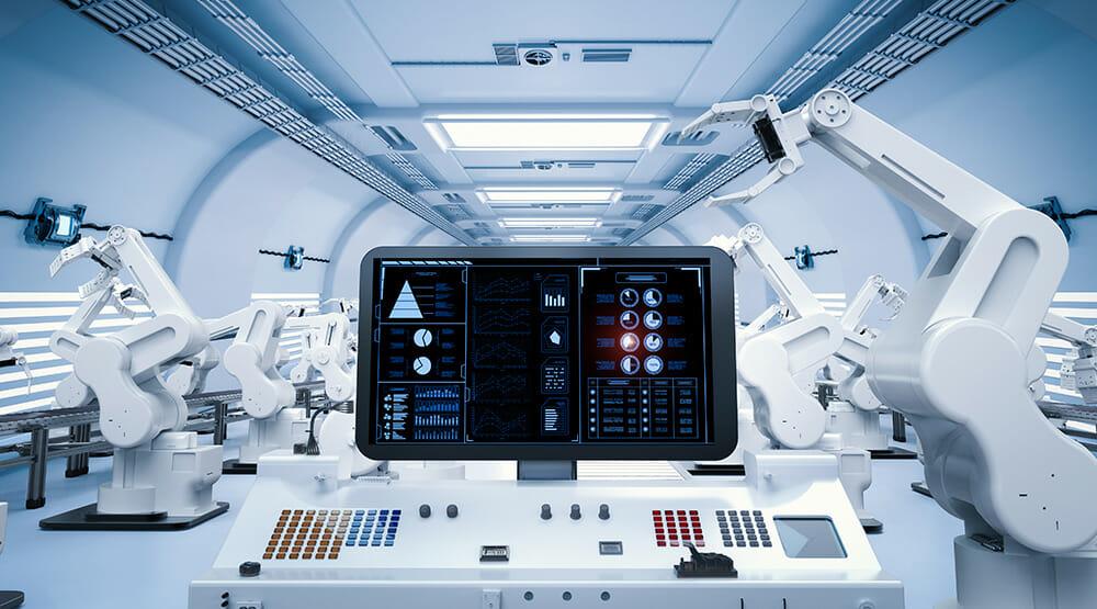 システムを制御してるコンピュータの写真