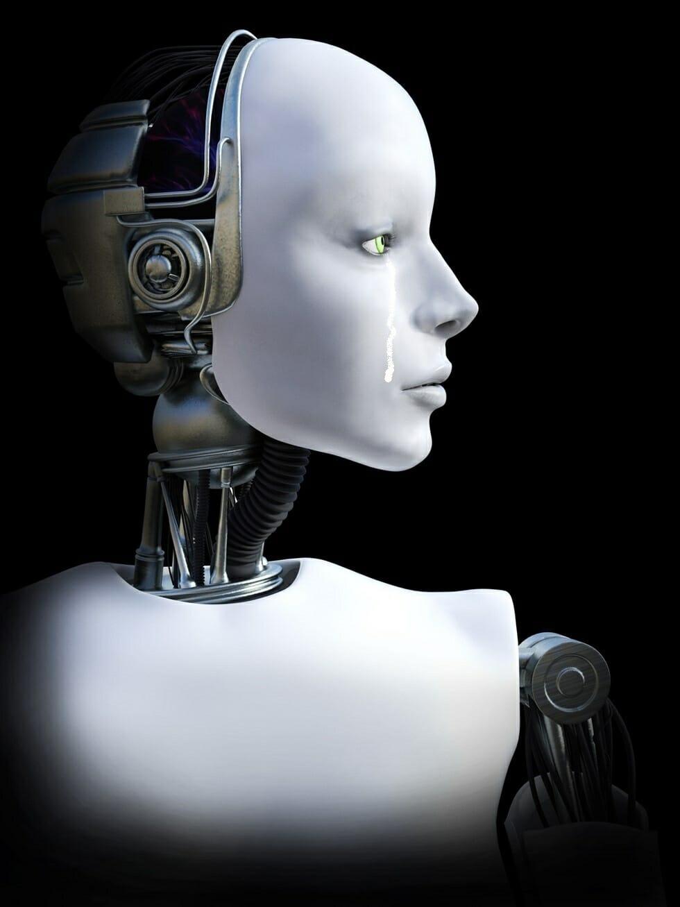 涙を流すロボットの写真
