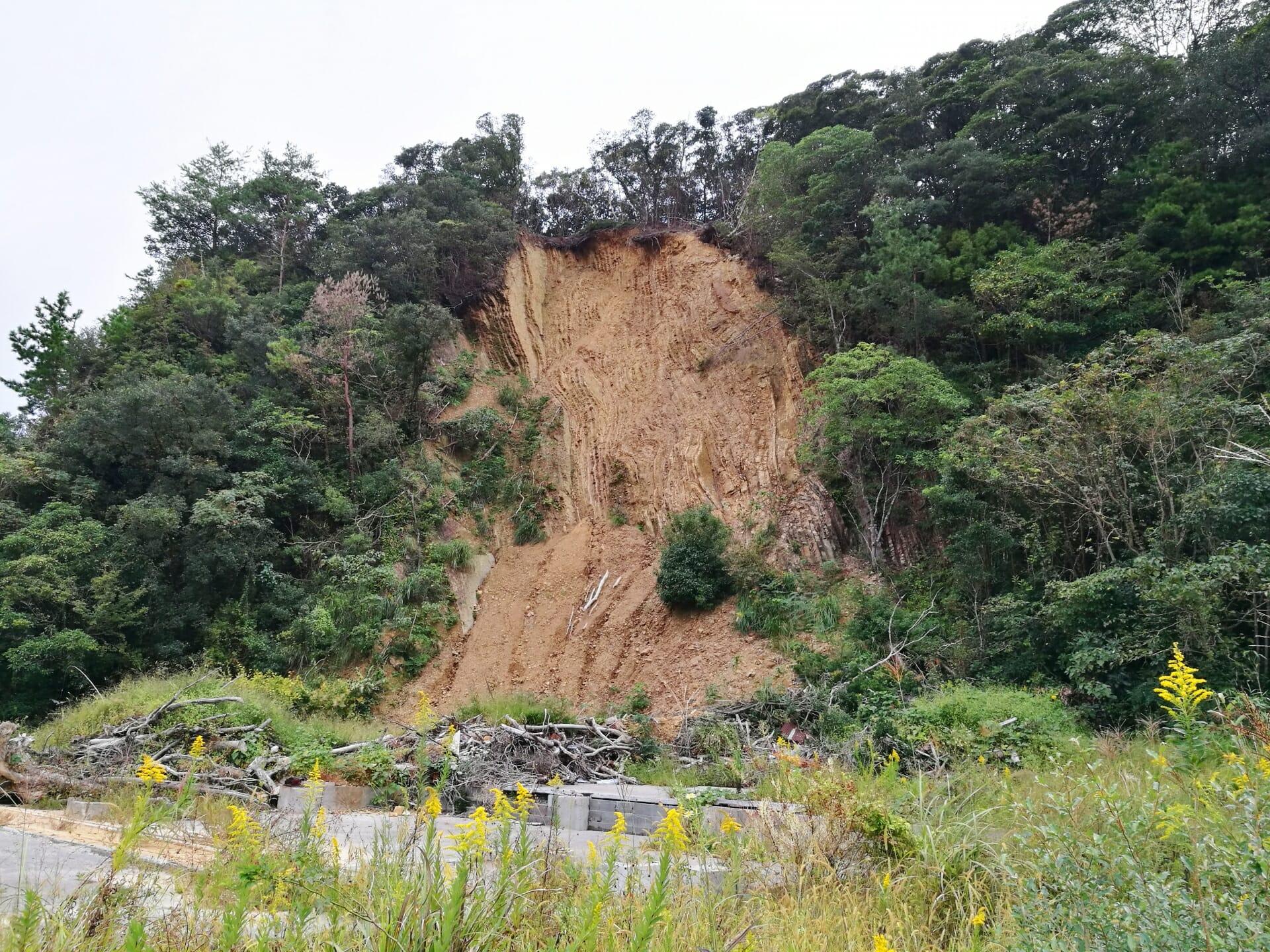 土砂崩れの写真